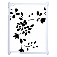 Flower Rose Black Sexy Apple Ipad 2 Case (white) by Mariart