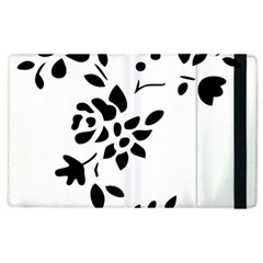 Flower Rose Black Sexy Apple Ipad 2 Flip Case by Mariart