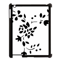 Flower Rose Black Sexy Apple Ipad 3/4 Case (black) by Mariart
