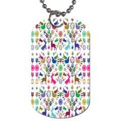 Birds Fish Flowers Floral Star Blue White Sexy Animals Beauty Rainbow Pink Purple Blue Green Orange Dog Tag (two Sides) by Mariart