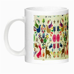 Birds Fish Flowers Floral Star Blue White Sexy Animals Beauty Rainbow Pink Purple Blue Green Orange Night Luminous Mugs by Mariart