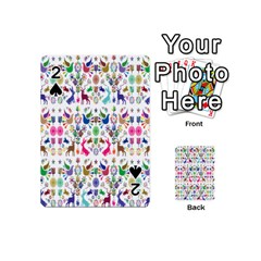 Birds Fish Flowers Floral Star Blue White Sexy Animals Beauty Rainbow Pink Purple Blue Green Orange Playing Cards 54 (mini)  by Mariart