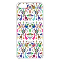 Birds Fish Flowers Floral Star Blue White Sexy Animals Beauty Rainbow Pink Purple Blue Green Orange Apple Iphone 5 Seamless Case (white) by Mariart