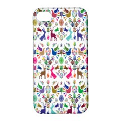 Birds Fish Flowers Floral Star Blue White Sexy Animals Beauty Rainbow Pink Purple Blue Green Orange Apple Iphone 4/4s Hardshell Case With Stand by Mariart