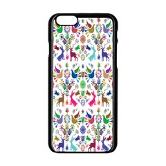 Birds Fish Flowers Floral Star Blue White Sexy Animals Beauty Rainbow Pink Purple Blue Green Orange Apple Iphone 6/6s Black Enamel Case