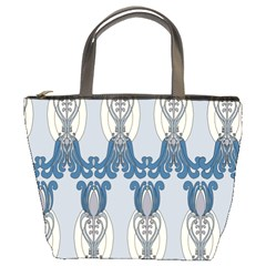 Flower Floral Leaf Beauty Art Bucket Bags by Mariart