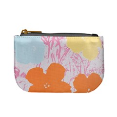 Flower Sunflower Floral Pink Orange Beauty Blue Yellow Mini Coin Purses by Mariart