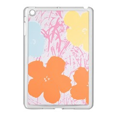 Flower Sunflower Floral Pink Orange Beauty Blue Yellow Apple Ipad Mini Case (white) by Mariart