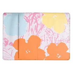 Flower Sunflower Floral Pink Orange Beauty Blue Yellow Samsung Galaxy Tab 10 1  P7500 Flip Case