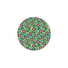 Discrete State Turing Pattern Polka Dots Green Purple Yellow Rainbow Sexy Beauty Golf Ball Marker (4 Pack) by Mariart