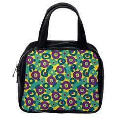 Discrete State Turing Pattern Polka Dots Green Purple Yellow Rainbow Sexy Beauty Classic Handbags (one Side) by Mariart
