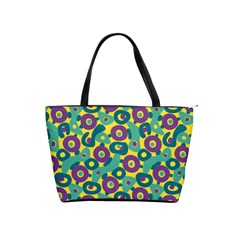 Discrete State Turing Pattern Polka Dots Green Purple Yellow Rainbow Sexy Beauty Shoulder Handbags by Mariart