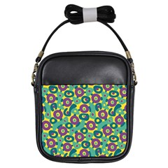 Discrete State Turing Pattern Polka Dots Green Purple Yellow Rainbow Sexy Beauty Girls Sling Bags by Mariart