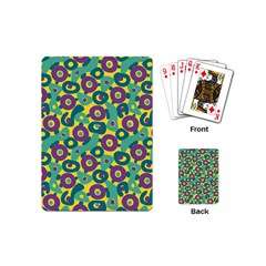 Discrete State Turing Pattern Polka Dots Green Purple Yellow Rainbow Sexy Beauty Playing Cards (mini)  by Mariart