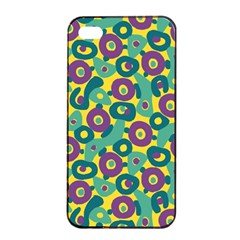Discrete State Turing Pattern Polka Dots Green Purple Yellow Rainbow Sexy Beauty Apple Iphone 4/4s Seamless Case (black) by Mariart