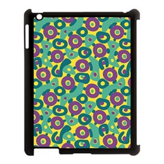 Discrete State Turing Pattern Polka Dots Green Purple Yellow Rainbow Sexy Beauty Apple Ipad 3/4 Case (black) by Mariart