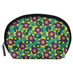 Discrete State Turing Pattern Polka Dots Green Purple Yellow Rainbow Sexy Beauty Accessory Pouches (large)  by Mariart