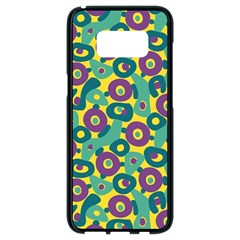 Discrete State Turing Pattern Polka Dots Green Purple Yellow Rainbow Sexy Beauty Samsung Galaxy S8 Black Seamless Case