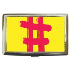 Fun Ain t Gone Fence Sign Red Yellow Flag Cigarette Money Cases by Mariart