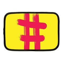 Fun Ain t Gone Fence Sign Red Yellow Flag Netbook Case (medium)  by Mariart