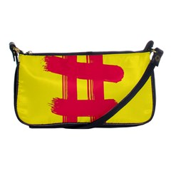 Fun Ain t Gone Fence Sign Red Yellow Flag Shoulder Clutch Bags by Mariart
