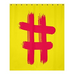 Fun Ain t Gone Fence Sign Red Yellow Flag Shower Curtain 60  X 72  (medium)  by Mariart