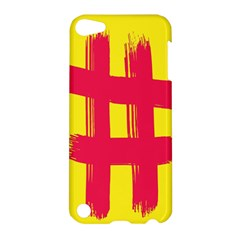 Fun Ain t Gone Fence Sign Red Yellow Flag Apple Ipod Touch 5 Hardshell Case by Mariart