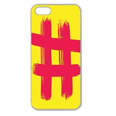 Fun Ain t Gone Fence Sign Red Yellow Flag Apple Seamless Iphone 5 Case (clear) by Mariart