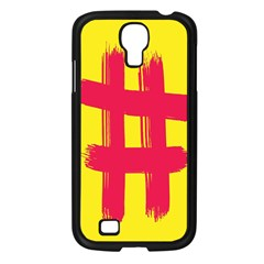 Fun Ain t Gone Fence Sign Red Yellow Flag Samsung Galaxy S4 I9500/ I9505 Case (black) by Mariart