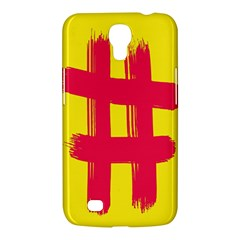 Fun Ain t Gone Fence Sign Red Yellow Flag Samsung Galaxy Mega 6 3  I9200 Hardshell Case by Mariart