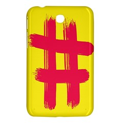Fun Ain t Gone Fence Sign Red Yellow Flag Samsung Galaxy Tab 3 (7 ) P3200 Hardshell Case  by Mariart
