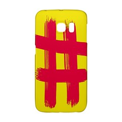Fun Ain t Gone Fence Sign Red Yellow Flag Galaxy S6 Edge by Mariart