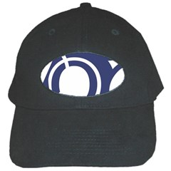 Garamond Blue White Wave Chevron Black Cap