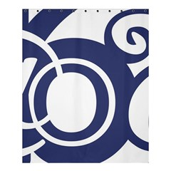 Garamond Blue White Wave Chevron Shower Curtain 60  X 72  (medium)  by Mariart