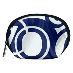Garamond Blue White Wave Chevron Accessory Pouches (medium)  by Mariart