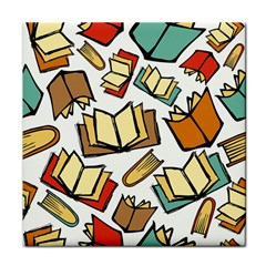 Friends Library Lobby Book Sale Tile Coasters by Mariart