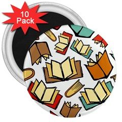 Friends Library Lobby Book Sale 3  Magnets (10 Pack)  by Mariart