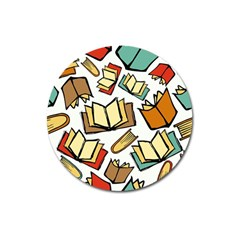 Friends Library Lobby Book Sale Magnet 3  (round) by Mariart