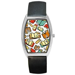 Friends Library Lobby Book Sale Barrel Style Metal Watch by Mariart