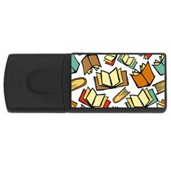 Friends Library Lobby Book Sale Rectangular Usb Flash Drive