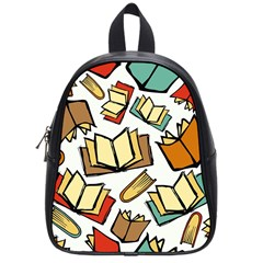 Friends Library Lobby Book Sale School Bag (small) by Mariart
