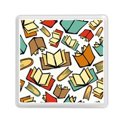 Friends Library Lobby Book Sale Memory Card Reader (square)  by Mariart