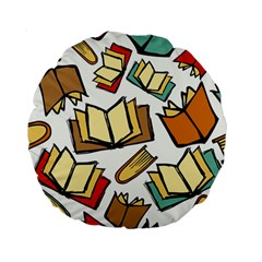 Friends Library Lobby Book Sale Standard 15  Premium Round Cushions by Mariart