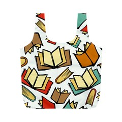 Friends Library Lobby Book Sale Full Print Recycle Bags (m)  by Mariart