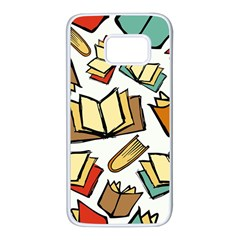 Friends Library Lobby Book Sale Samsung Galaxy S7 White Seamless Case by Mariart