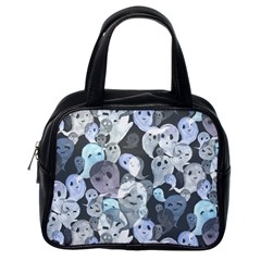 Ghosts Blue Sinister Helloween Face Mask Classic Handbags (one Side) by Mariart