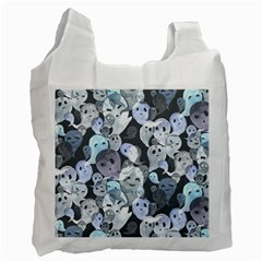 Ghosts Blue Sinister Helloween Face Mask Recycle Bag (one Side) by Mariart