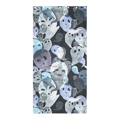 Ghosts Blue Sinister Helloween Face Mask Shower Curtain 36  X 72  (stall)  by Mariart