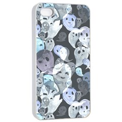 Ghosts Blue Sinister Helloween Face Mask Apple Iphone 4/4s Seamless Case (white) by Mariart