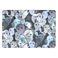 Ghosts Blue Sinister Helloween Face Mask Samsung Galaxy Tab 10 1  P7500 Flip Case by Mariart